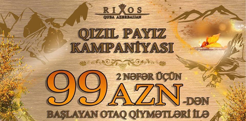 PAYİZ&QİŞ TƏKLİFİ QUBA RİXOS 5*
